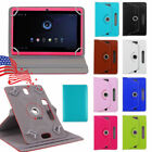 "US! 360° Folio Rotatable Leather Case Cover For 7'' / 9'' /10.1"" Android Tablet"