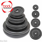 "Cast Iron Weight Plates Barbell Plate 1"" Dumbbell Weights Disc Olympic Discs"