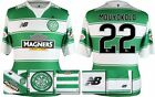 *15 / 16 - NEW BALANCE ; CELTIC HOME SHIRT SS + PATCHES / MOUYOKOLO 22 = SIZE*