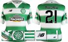 *15 / 16 - NEW BALANCE ; CELTIC HOME SHIRT SS + PATCHES / MULGREW 21 = SIZE*