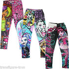 Girls leggings Monster High Tight Pencil Pants Trousers Kids size  6-16 AU stock