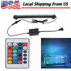 5-Size Underwater LED Aquarium Fish Tank Air Bubble Light With RGB 24Key Remote