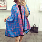 Women Long Grid Plaid Scarf  Wraps Winter Warm Shawl Stole Lady Stole Scarves