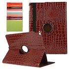Crocodile Leather 360 Rotating Case Cover For iPad Pro Air Mini SLEEP WAKE Skin