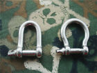 1-100pcs Stainless Steel Shackles BOW or D Shaped 5mm For 550 Paracord Bracelets