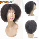 Brazilian Virgin Human Hair Afro Kinky Curl Glueless Machine Made Wigs For Women