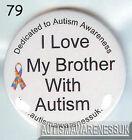 Autism Awareness Badge,  I love my brother with Autism