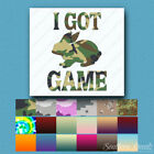 I Got Game Rabbit Hunting - Decal Sticker - Multiple Patterns & Sizes - ebn392