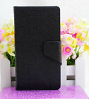 For NOKIA Microsoft Lumia 730 735 Oracle Vein PU Leather Flip Wallet Case Cover