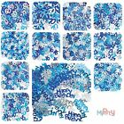 Birthday Blue Glitz - Metallic Confetti Decoration, Boy, Male, Ages 13 to 100