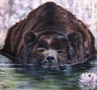 Grizzly Bear painting by Julia Pankhurst in various print/canvas sizes