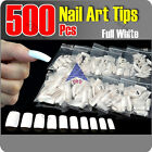 Fashion 500pcs White False French UV Half Full Tips Nail Art Parts Jewelery