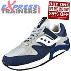 Saucony Mens Grid 9000 Retro Running Shoes Trainers Navy AUTHENTIC