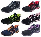 MENS SAFETY TRAINERS SHOES BOOTS WORK STEEL TOE CAP ANKLE SIZE 3 - 12
