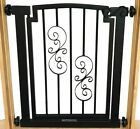 "Noblesse Hallway or door Pet dog pressure mounted iron Gate fence barrier 32""H"
