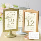 Double Picture Photo Frames 12x20cm Wedding Gift Table Number Home Party Decor