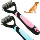 Pet Dog Hair Comb Brush Rake Grooming Mat Breaker Blue Pink Stainless 11 Blades