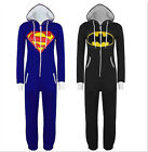 Adult Batman Superman Kigurumi Pajamas Sleepwear Unisex Costume