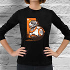 New Star Wars episode 7 bb8 droid Women Long Sleeve Dark Black T-Shirt