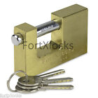 BULK PURCHASE BRASS Container Garage KEYED ALIKE padlock 90mm H/D 3keys KSOE
