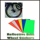 Reflective Bike Wheel Rim Stickers Hi Vis Safety Bicycle Cycling Reflector Tape