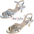 SheSole womens outdoor wedding ankle straps dress low heels sandals bride shoes