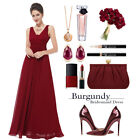 US Ever Pretty Women Long Maxi Bridesmaid Dresses V Neck Evening Gowns Prom 8110 <br/> ❤US STOCK ❤FAST DELIVERY ❤EASY RETURN❤High Quality
