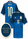 ADIDAS LIONEL MESSI ARGENTINA AWAY JERSEY FIFA WORLD CUP BRAZIL 2014 FINAL MATCH