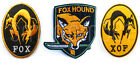 METAL GEAR SOLID Kojima Foxhound Iron / Sew On Embroidered Patch Badge Transfer
