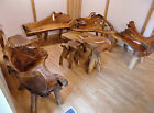 Solid Rustic Teak Root Furniture Unique Bench Chair Stool Home Or Garden La5