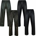NEW MENS WOMENS WATERPROOF OVER TROUSERS RAIN PANTS FISHING MOTORCYCLE WALKING
