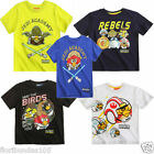 Boys STAR WARS ANGRY BIRDS T-Shirt Top 10 12 Years