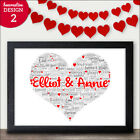 Valentines Gifts for Her - PERSONALISED Valentines Day Presents Girlfriend Wife