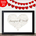 LOVE Valentines Gifts - Personalised Word Art Presents Him Her I Love You Gift