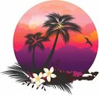 Tropical purple sunset decal Camper RV motor home mural graphic
