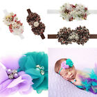 Baby Girl Lace Sun Flower Pearl Floral Crown Leopard Rhinestone Fashion Headband