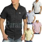 Soulstar Short Sleeve Casual Ramie Cotton Shirt  Mens Size