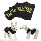 Dog Vest Pet Puppy Cat Black T-Shirt Summer Clothes Coat Apparel Costumes VIP