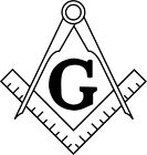 Masonic Compass with G Custom Novelty Vinyl Decal Sticker Custom Quality