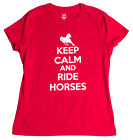 Keep Calm and Ride Horses | Cute Horse Riding Equestrian 4H Ladies' T-shirt