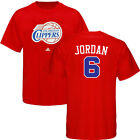 DeAndre Jordan Los Angeles Clippers ADIDAS Player Jersey Red T Shirt Men's