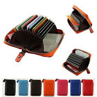 Unisex Genuine Leather ID Credit Card Holder Organizer Purse Clutch Wallet