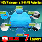 9 Layer A3 PEVA Car Cover Cotton Waterproof Snow Ice UV Rain Resistance Sky Blue