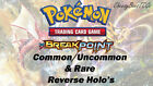 Pokemon XY: Breakpoint - Common, Uncommon & Rare Reverse Holo Cards