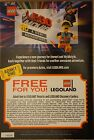 Legoland Free Admission Ticket Pass Coupon - Good For Adult Or Child!