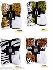 Luxury And Stylish Animal Skin Print Sherpa Throws Double Size Sofa Bed 4 Colour