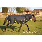 Gallop Trojan 200gsm Fixed Neck Outdoor Turnout Rug for Horse Pony 4'6''to 7'0''