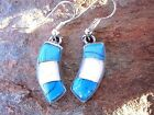 Stone Inlay Handcrafted Earrings Women Artisan Made in Mexico Fair Trade e2018