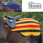 Shires Fleece Exercise Sheet Newmarket Stripe or navy rug, CHOOSE SIZE + COLOUR