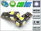 T10 CAR BULBS LED ERROR FREE CANBUS 5 SMD XENON WHITE W5W 501 SIDE LIGHT BULB